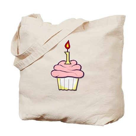 1st Birthday Cupcake (girl) Tote Bag