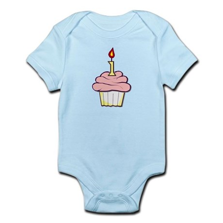 1st Birthday Cupcake (girl) Infant Bodysuit