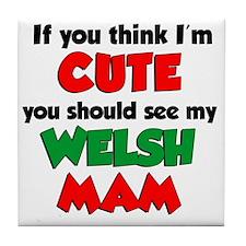 Im Cute Welsh Mam Tile Coaster