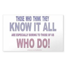 KNOW IT ALL Rectangle Decal