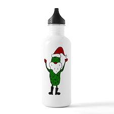 Funny Santa Claus Pick Sports Water Bottle