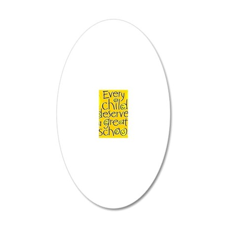 EveryChildPoster16x20 20x12 Oval Wall Decal
