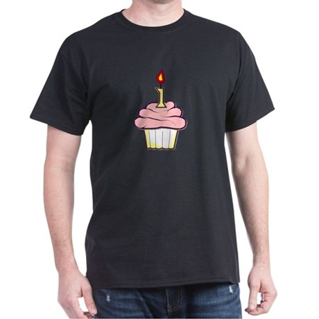 1st Birthday Cupcake (girl) Dark T-Shirt