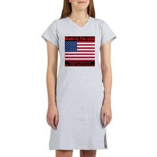madeinusa_2012_redfont02_revers Women's Nightshirt