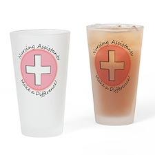 Nursing assist MAKE A DIFF PINK Drinking Glass