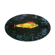 Klee - The Goldfish Oval Car Magnet