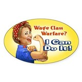 Hillary the Riveter - Class W Oval Decal