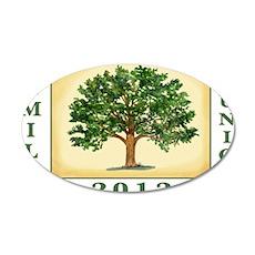 TreeReunion2012Shirt 35x21 Oval Wall Decal