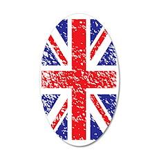 BritishFlag 35x21 Oval Wall Decal