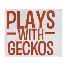 playsgeckos Throw Blanket