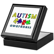Autism Awareness Puzzle Keepsake Box