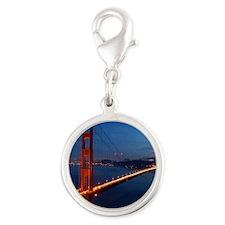 golden_gate_bridge_redmoon Silver Round Charm