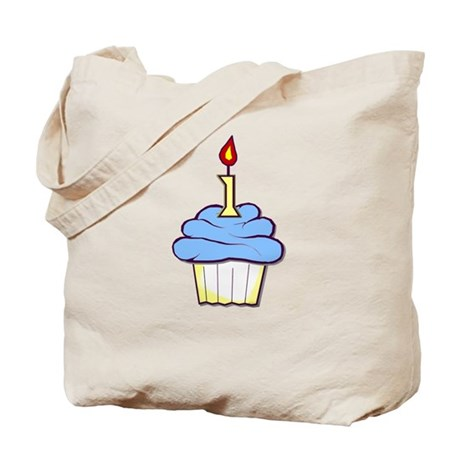1st Birthday Cupcake (boy) Tote Bag