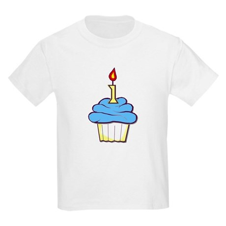 1st Birthday Cupcake (boy) Kids T-Shirt
