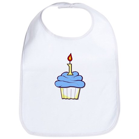 1st Birthday Cupcake (boy) Bib