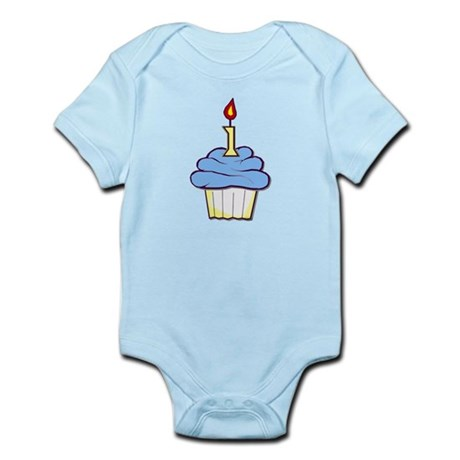 1st Birthday Cupcake (boy) Infant Bodysuit