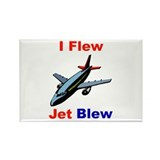 I Flew Jet Blew Rectangle Magnet (10 pack)