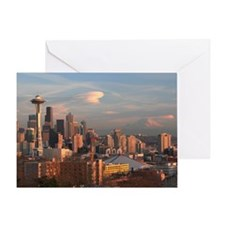 Seattle Space Needle Skyline Greeting Card