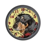 &quot;Dachshund Sugar&quot; Wall Clock