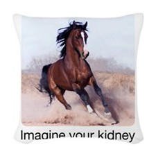 horse_ebooks Woven Throw Pillow