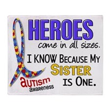 D Heroes All Sizes Autism Sister Throw Blanket