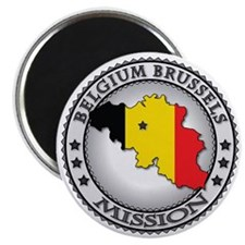 Belgium Brussels LDS Mission Flag Cutout Ma Magnet