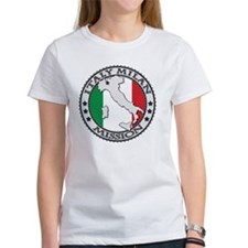 Italy Milan LDS Mission Flag Cutou Tee
