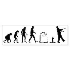 zombie evolution Bumper Sticker