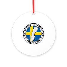 Sweden Stockholm LDS Mission Flag C Round Ornament