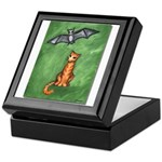 Cat and Bat Keepsake Box