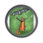 Cat and Bat Wall Clock
