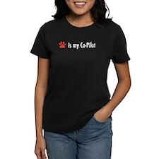 Dog is my Co-Pilot Women's Dark T-Shirt