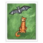 Cat and Bat Small Poster