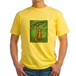 Cat and Bat Yellow T-Shirt