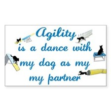 Agility Dance Rectangle Decal