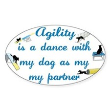 Agility Dance Oval Decal