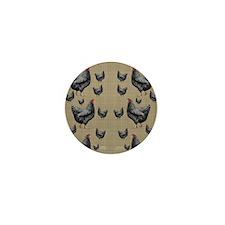 flipflops-chick6 Mini Button