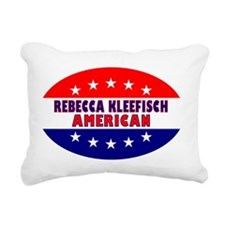 OvalStickerRebeccaKleefi Rectangular Canvas Pillow