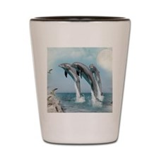dolphin  jump mousepad Shot Glass