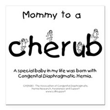 "mommycherub Square Car Magnet 3"" x 3"""