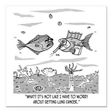 "2522_cancer_cartoon Square Car Magnet 3"" x 3"""