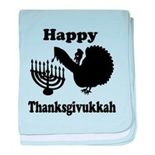 Happy Thanksukkah 3 baby blanket