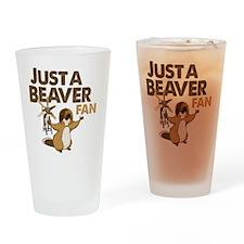 Justa Beaver Fan Drinking Glass