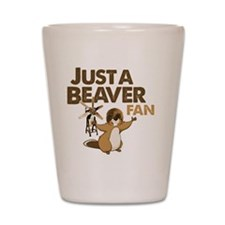 Justa Beaver Fan Shot Glass