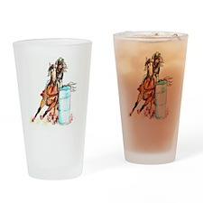 16x20_barrelracer Drinking Glass