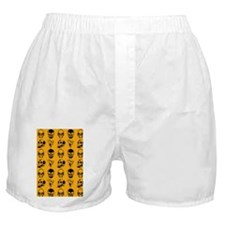 four skulls pattern nook case orange Boxer Shorts