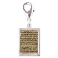 SheetMusic1FF Silver Portrait Charm