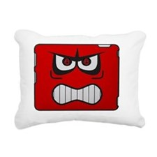 angry-red-smiley-face-bi Rectangular Canvas Pillow
