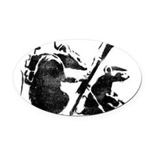 banksy-big Oval Car Magnet