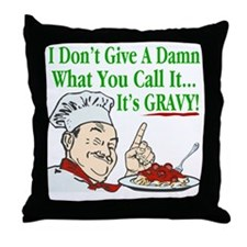 ItsGravy-Dammit-Drk Throw Pillow